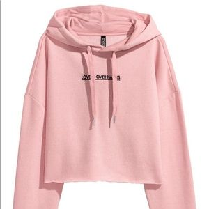 H&M | Lovers Over Haters Cropped Sweatshirt